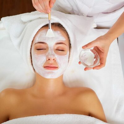 Application of mask during facial training