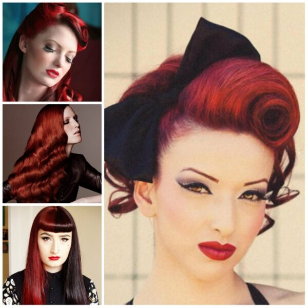 Vintage hair styles covered in our hair course at Mac-Ed training academy Cwmbran